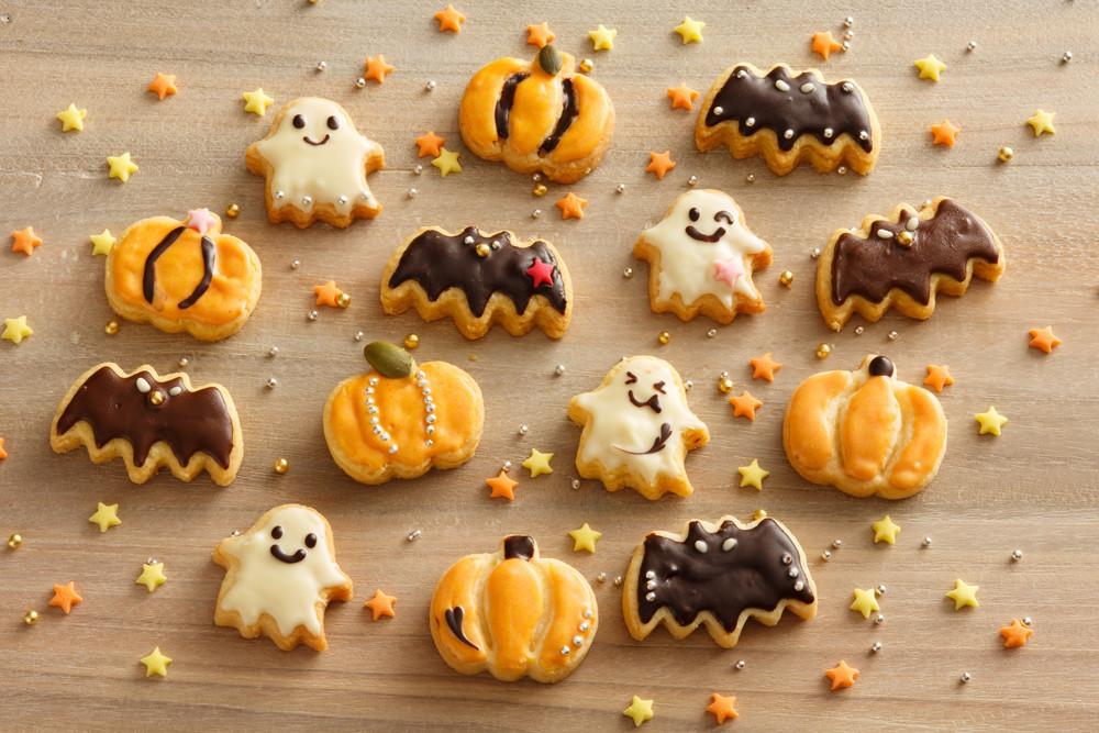 ハロウィン型抜きクッキー